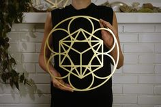 Sacred Geometry Gold Mandala #WallDecor - The Quest