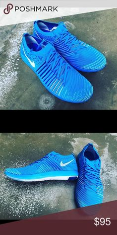 Nike Women's free transform flyknit blue sneakers *Brand new *Authentic *Box included Nike Shoes Athletic Shoes