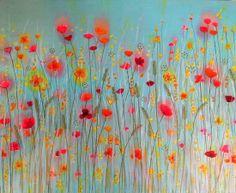 Summer Flowers Meadow Painting