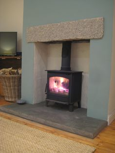 Good Free Fireplace Hearth log burner Style Blazing Burners HETAS registered stove installations in Cornwall & the South West – 07798 634388 Wood Burner Fireplace, Granite Fireplace, Fireplace Heater, Diy Fireplace, Fireplace Design, Granite Hearth, Fireplaces, Log Burner Living Room, Stove Installation