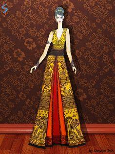 Ethnic fashion designed by Sanyam Jain Fashion illustration by Sanyam Jain Ethnic, beautiful gowns, traditional embroideries, mehendi designs