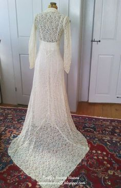 A Late 1930s Early 1940s Lace Wedding Dress From My Personal Collection Of Vintage Clothing