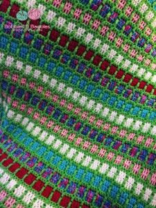 Boxy Neon Afghan - A Scrap Yarn Project