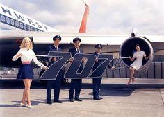 Aviation World, Civil Aviation, Northwest Airlines, Boeing 707, Vintage Airplanes, Blue Angels, North West, Air Force, Transportation