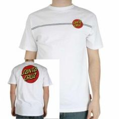 Santa Cruz Mens Santa Cruz Classic Dot Tee White A quality 100% cotton tee with the classic Santa Cruz graphic to the front and a much larger version in the same colour to the back http://www.comparestoreprices.co.uk/t-shirts/santa-cruz-mens-santa-cruz-classic-dot-tee-white.asp