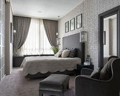 gri yatak odas dekorasyonu fikirleri