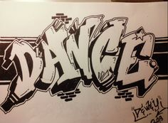 dance graffiti art - Dance World 2020 Alphabet Graffiti, Graffiti Names, Graffiti Lettering Fonts, Graffiti Doodles, Graffiti Writing, Graffiti Characters, Graffiti Wall Art, Graffiti Wallpaper, Murals Street Art