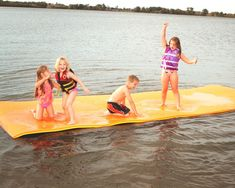 Jumbo Floating Pad, Giant Aqua Mat 18'x6' Feet Pool & Water Toy Floating Mat, Floating In Water, Floating Platform, Water Mat, Pool Water, Water Time, Beach Mat, Outdoor Blanket, Walmart