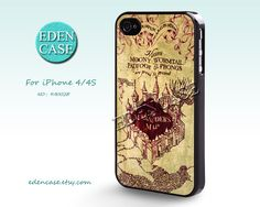 iPhone 4 Case, iphone 4S Case, Harry potter Marauder's Map, Vintage, Plastic Phone Cases, Case for iPhone  -- 4A0028