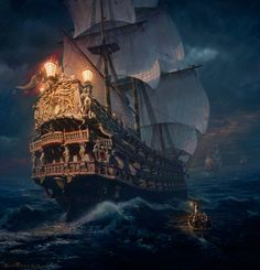 All information about Pirate Ship Concept Art. Pictures of Pirate Ship Concept Art and many more. Pirate Art, Pirate Life, Pirate Ships, Pirate Crafts, Pirate Queen, Bateau Pirate, Old Sailing Ships, Ghost Ship, Black Sails
