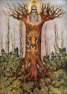 """""""He who knows that ashvattha tree with its root above and branches down, whose leaves are the Vedas said to be imperishable. And he who knows it knows the Vedas."""""""