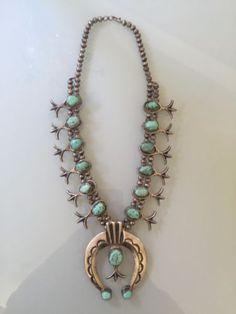 Navajo-squash-blossom-necklace-Carico-Lake-turquoise