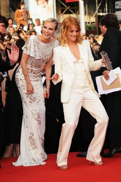 Melanie Laurent and Diane Kruger at the premiere of Inglorious Basterds. I would so wear the suit to prom.
