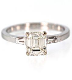 2.20 Carat Emerald Cut Diamond Engagement Ring