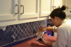 17 Cool & Cheap DIY Kitchen Backsplash Ideas To Revive Your Kitchen - Polygosn. Peel Stick Backsplash, Backsplash Cheap, Kitchen Backsplash, Diy Kitchen, Kitchen Design, Kitchen Reno, Kitchen Ideas, Wallpapering Tips, Diy House Projects