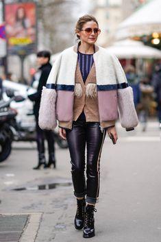Olivia Palermo Fluffy Coats