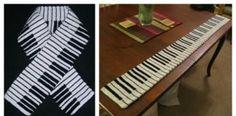 Piano Keyboard Crochet / Knitting Scarf Free Pattern – Knitting For Beginners 2020 Crochet Mittens Free Pattern, Knitting Patterns Free, Free Knitting, Free Crochet, Knit Crochet, Crochet Patterns, Crochet Cardigan, Chrochet, Crochet Hat For Beginners