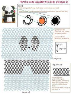 3D origami panda diagram | by Jewellia