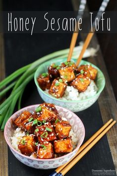 Honey Sesame Tofu is the perfect dinner for meatless Monday or vegetarians. The tofu is fried up crispy and then tossed in a delicious sweet sauce!