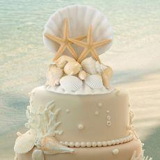 Coastal Wedding Cake Topper