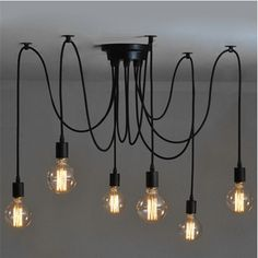 6 Head Industrial Vintage Edison Chandelier Pendant Ceiling Lamp Fixture  Worldwide delivery. Original best quality product for 70% of it's real price. Buying this product is extra profitable, because we have good production source. 1 day products dispatch from warehouse. Fast &...