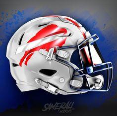 Cool Football Helmets, Football Jerseys, 32 Nfl Teams, Helmet Logo, Custom Football, Nfl Logo, Professional Football, Sports Clubs, Buffalo Bills