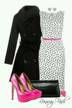 Lovely dots and pink black