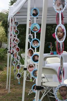 Photo garland decorations