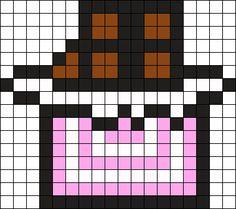 Chocolate Bar Perler Bead Pattern / Bead Sprite