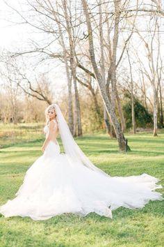 Soft Wedding Veil by BlancaVeils on Etsy