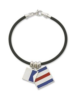 Nautical bracelets are hot this week... sterling, leather, rubber and rope!