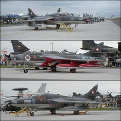 Fliegermuseum Hawker Hunter F.Mk.58 and T.Mk.68 at the Berlin Air Show in 2010