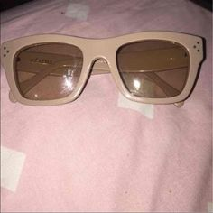 Celine sunglasses Preowned. Great condition. Authentic. Comes with case and cloth. Beige.  I paid 500 I would like to get some of my money back. Celine Accessories Sunglasses