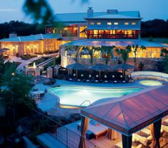 About 40 minutes from Austin and in the Texas Hill Country, Lake Austin Spa Resort has an outdoor pool amid the spa and its gardens, and a swimming pool in the Pool Barn.