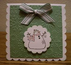 Indiana Inker - Christmas Card  - Scalloped Square