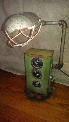 Si un guage aimable tracteur vintage lampe John par rvgypsysart
