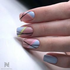 Line Nail Designs, Acrylic Nail Designs, Best Nail Art Designs, Minimalist Nails, Minimalist Chic, Minimalist Design, Chic Nails, Stylish Nails, Pink Nails