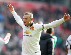 Reds skipper Wayne Rooney embarks on an impassioned celebration with the Official Manchester United Website, Premier League Champions, Wayne Rooney, Live Matches, Match Highlights, Manchester United Football, Professional Football, Europa League, Man United