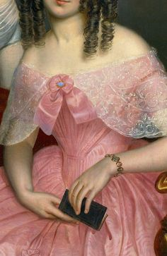 George Theodore Berthon,The Three Robinson Sisters (1846) detail.