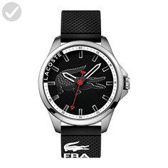 Lacoste Men's 2010840 Capbreton Analog Display Japanese Quartz Black Watch - Mens world (*Amazon Partner-Link)