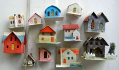 putz houses - I have a huge collection of these!