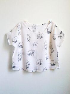 Loose Bears Print Blouse. $70.00, via Etsy.