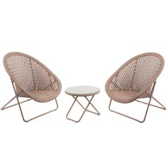 Folding Garden Lounge Set with Table - Copper from The Farthing