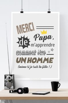 Merci Papa paper poster or large gift postcard - Christophorus Hodgen Funny Christmas Cards, Christmas Ad, Papa Tag, Cadeau Parents, Poster S, Dad Birthday, Illustrations Posters, Digital Image, Decal