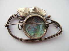 Stunning antique Art Nouveau brooch. 925 sterling by Inglenookery