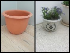 Before and after - flower pots