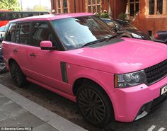 pink Range Rover omg im in love! Fave car and fave color All rolled into one!!! I might die