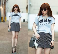 La Notte Shirt, Topshop Skirt, Zara Heels, Alexander Wang Bag