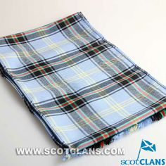 Clan Bell Scarf in Riever Weight Wool Tartan.