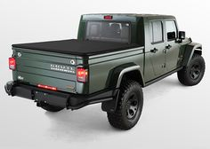 Filson Edition AEV Brute Jeep exterior rear and side view Aev Jeep, Jeep Brute, Jeep Tj, Wrangler Pickup, Jeep Wrangler Unlimited, Jeep Scout, Jeep Photos, Expedition Vehicle, Jeep Gladiator